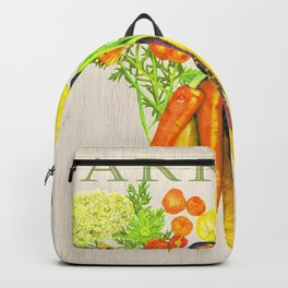 Carrots and their Blossoms Backpack