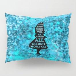Alice In Wonderland -  Blues Watercolor Splatter - Have I Gone Bonkers Quote Pillow Sham