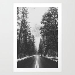 ROAD TRIP IV / Yosemite, California Art Print