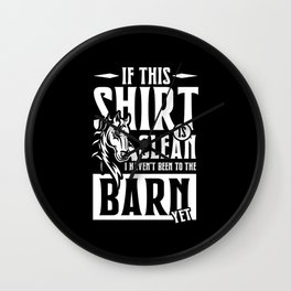 In the Barn yet Wall Clock
