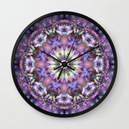 Lilac Mandala Wall Clock