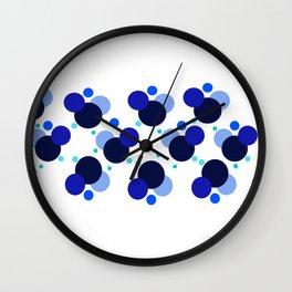 Blue Circules Wall Clock