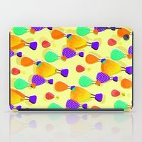 hot air balloons iPad Cases featuring Hot Air Balloons (Yellow) by Ingrid Castile