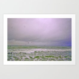 Dreary Day At Sea Art Print