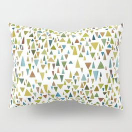 Watercolor triangle fantasy in nature colors Pillow Sham