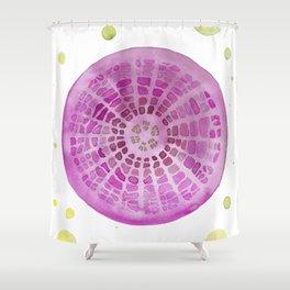 Microscopic - Diatoms - Fuchsia Palette Shower Curtain