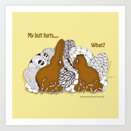 Chocolate Easter Bunny Problems Children Illustrations Art Print