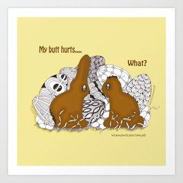 Chocolate Easter Bunny Problems Children Illustrations Art Print