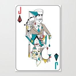 Splicer/Andrew Ryan Bioshock Playing Card Canvas Print