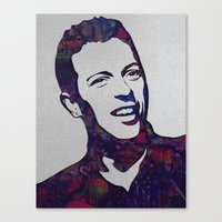 coldplay Canvas Prints featuring chris martin by ketizoloto