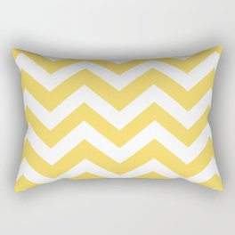 Naples yellow - yellow color - Zigzag Chevron Pattern Rectangular Pillow