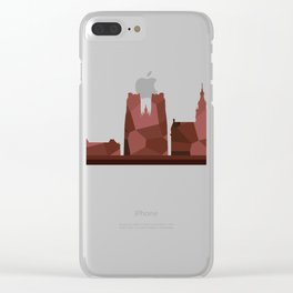 bruxelle skyline Clear iPhone Case