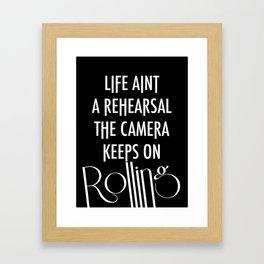 Camera Keep Rolling Framed Art Print