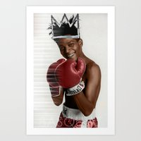 basquiat Art Prints featuring Basquiat * by zombielombii