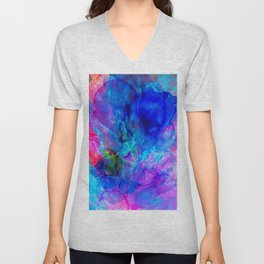 abstract sea waves cb Unisex V-Neck