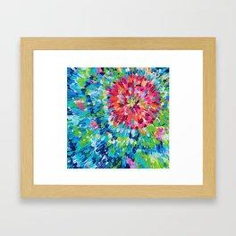 Color Burst Finger Painting Framed Art Print