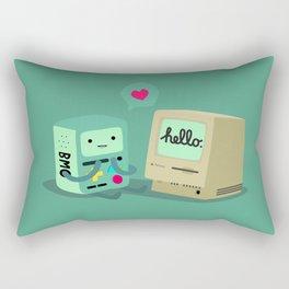 BMO & Macintosh Rectangular Pillow