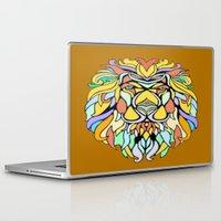metallic Laptop & iPad Skins featuring Metallic Lion by J&C Creations