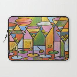 Abstract Art Wine Bar Alcohol Painting ... Martinis and Olives Laptop Sleeve