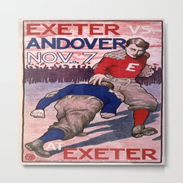 Vintage poster - Exeter vs. Andover College Football Metal Print
