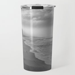 First Footsteps On The Beach Travel Mug