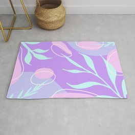 Purple Abstract Shapes Rug