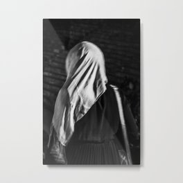 Muslim woman is walking Metal Print