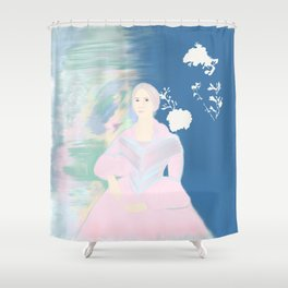 pink and blue Sarah Hayes Shower Curtain