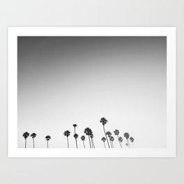 Palm Lovin' BW Art Print