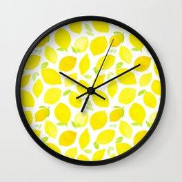 Beautiful Lemon Pattern Wall Clock