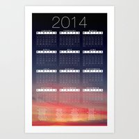 calender Art Prints featuring Jan C.P. Luna - 2014 Calender Poster by Jan  C.P. Luna