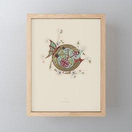 Celtic Initial C Framed Mini Art Print