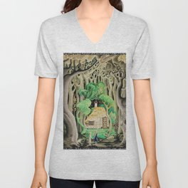 1925 Classical Masterpiece 'Hansel and Gretel by Brothers Grimm' by Kay Nielsen Unisex V-Neck