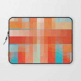 Orange Turquoise Summer Abstract Design Laptop Sleeve