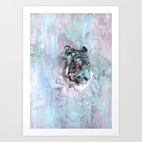 Illusive By Nature (Blue) Art Print