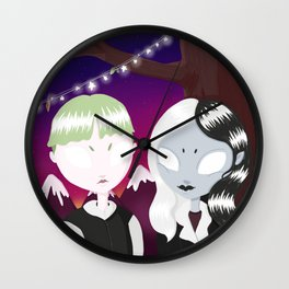 love in the graveyard Wall Clock
