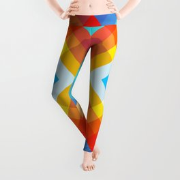 Abstract Retro Pattern 10 Leggings