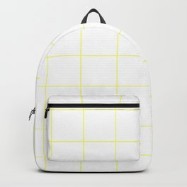 Graph Paper (Light Yellow & White Pattern) Backpack
