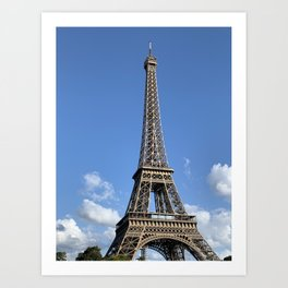 just the Eiffel Tower Art Print
