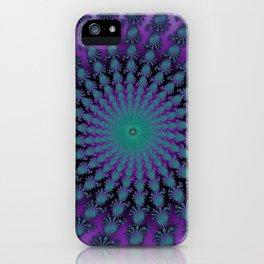 Cool Hued Purple Blue Braided Rug Fractal iPhone Case