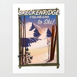 Breckenridge, Colorado ski poster Art Print