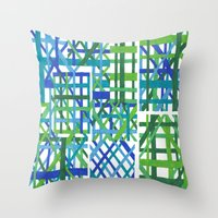 plaid Throw Pillows featuring Plaid by Smiley's Dreamboat