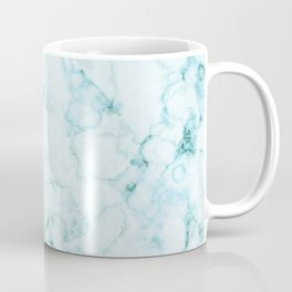 Aqua marine and white faux marble Coffee Mug