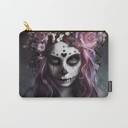 Zombie face tattoo girl Carry-All Pouch