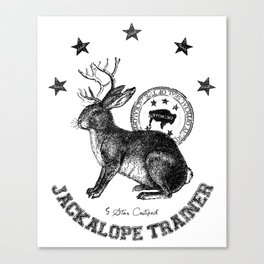 5 star certified jackalope trainer Canvas Print