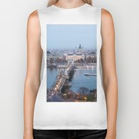 budapest Biker Tanks featuring Budapest at night by Jovana Rikalo