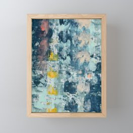 017: a bright contemporary abstract design in blues pinks and yellow by Alyssa Hamilton Art  Framed Mini Art Print