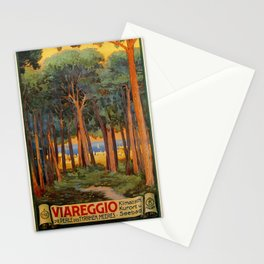Viareggio woods and sea Stationery Cards