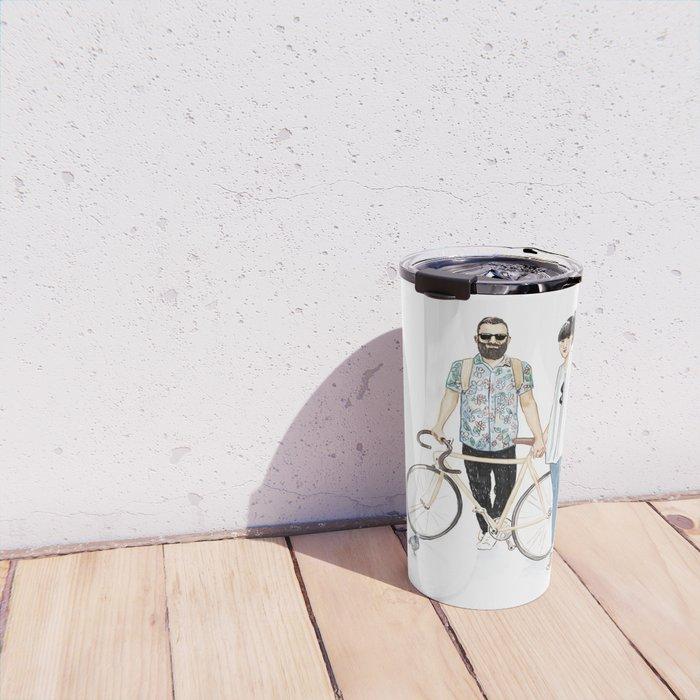 Amsterdam hipsters Travel Mug