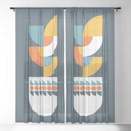Geometric Plant 02 Sheer Curtain